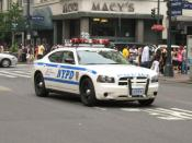 English: NYPD Dodge Charger #2909 in midtown Manhattan.