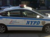 English: NYPD Traffic Enforcement police car photographed in NYC.