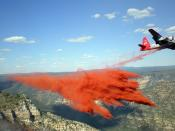 Fire retardant drop