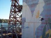 Cockatoo Mural on top island.