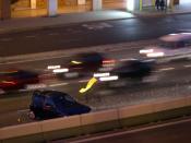 English: motor vehicle accident night Euskara: auto istripu istripua trafiko gauez kalea argiak autobidea Español: accidente tráfico noche luces carretera autovia