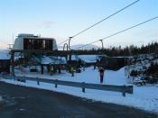 English: Glencoe Ski Centre chair lift
