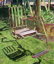 English: Single chair from defunct Ski Lift No. 1, Aspen, CO, USA