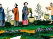 People in imperial China during silk production - Qing dynasty