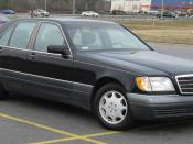 1994-1999 Mercedes-Benz S-Class SWB photographed in USA. Category:Mercedes-Benz W140
