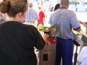 At Walt Disney World, biometric measurements are taken from the fingers of guests to ensure that the person's ticket is used by the same person from day to day