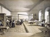 English: One of the wards of the hospital at Scutari / W. Simpson del. ; E. Walker lith. ; Day & Son, Lithrs. to the Queen. Türkçe: 1853-1856 yılları arasında gerçekleşen Kırım Savaşı sırasında, Selimiye Kışlası'nın İngilizler tarafından hastane olarak ku