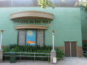 The entrance to the Theater in the Wild in Disney's Animal Kingdom, Florida. The theater is home to Finding Nemo - The Musical.