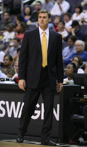 Rick Carlisle with the Dallas Mavericks