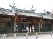 The Thian Hock Keng, completed in 1842, served as a place of worship for early immigrants.