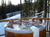 Hot tub at Big White Ski Resort, Canada.