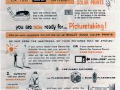 Kodacolor-X 126 Film Instruction Sheet 1