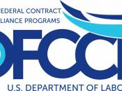 Logo of the United States Office of Federal Contract Compliance Programs (OFCCP).