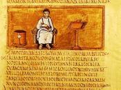 Folio 14 recto of the Vergilius Romanus contains an author portrait of Virgil.