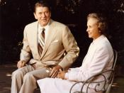 President Reagan and his Supreme Court Justice nominee Sandra Day O'Connor at the White House.