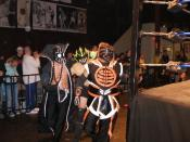English: Professional wrestling stable the Order of the Neo-Solar Temple at Chikara's 2008 King of Trios