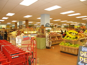 Trader Joe's interior in Union Square in New York City.