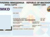 English: Macedonian identity card - front