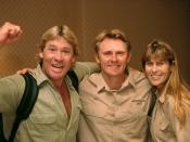 English: Steve Irwin, Wes Mannion and Terri Irwin
