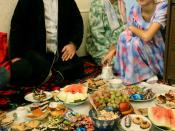 A family celebrating Eid in Tajikistan.