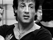 Sylvester Stallone in Sweden to promote