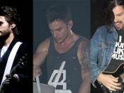 30 Seconds to Mars (left to right): Jared Leto, Shannon Leto and Tomo Miličević.