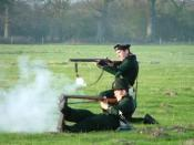 English: 95th Rifles Reenactors Firing