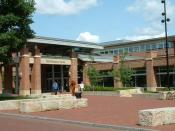 Exterior of the Hetzel Union Building at Penn State University, University Park, Pennsylvania.