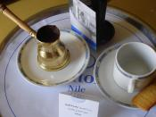 English: Turkish coffee at Cairo Hilton