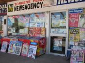 A typical suburban newsagency in Canberra, Australia.