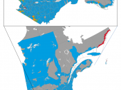 Linguistic map of the province of Quebec (source: Statistics Canada, 2006 census) * blue: francophone majority, less than 33% anglophone * green: francophone majority, more than 33% anglophone * red: anglophone majority, less than 33% francophone * orange