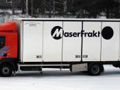 Volvo FL 280 lorry/truck from Swedish freight company Maserfrakt. Avesta, Sweden.