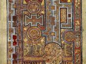 Book of Kells, Folio 292r, Incipit to John. In principio erat verbum.