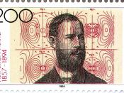 English: 1994 Deutsche Bundespost postage stamp honouring Heinrich Hertz