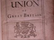English: TrueScans Image of the Title page from: The History Of The Union Of Great Britain authored by Daniel Defoe in 1709 and printed in Edinburgh by the Heirs Of Anderson