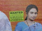 poster anouncing employment opportunities in callcenters and other business process outsourcing (BPO) operations on a wall next to the shavij nagar bus stationin bangalore.