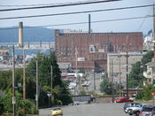 The Kimberly-Clark paper plant on the Everett, Washington, waterfront.