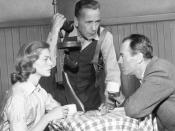 Title: Actors Lauren Bacall, Humphrey Bogart and Henry Fonda in scene from television broadcast play