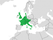 English: Eurovision Song Contest 1957 Map.