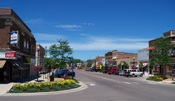 English: Main Street in Brookings, South Dakota, USA.