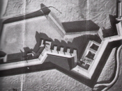 English: Model of Fort Wagner / Morris Island (South Carolina)