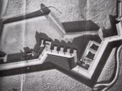 English: Model of Fort Wagner / Morris Island (South Carolina)