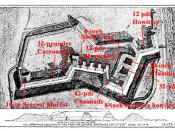 Plan of Fort Wagner, with overlay showing armament