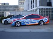 English: ACT Policing vehicles in Canberra.
