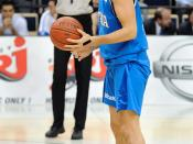 English: Italian basketball player Marco Mordente in the game against Finland.