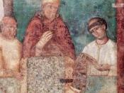 Svenska: Bonifatius VIII proklamerar Jubelåret 1300. San Giovanni in Laterano, Rom.
