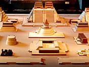 Tenochtitlan was the Aztec (or Mexica) city that stood where Mexico City is now. This model is in the National Anthropological Museum, Mexico City.