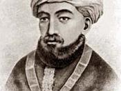 English: Moses Maimonides, portrait, 19th century.