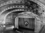 Auditorium Building, Chicago. Auditorium interior from balcony.
