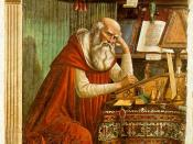 Saint Jerome in his Study, fresco by Domenico Ghirlandaio, 1480